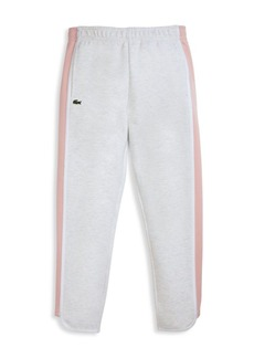 Lacoste Little Girl's & Girl's Side-Stripe Fleece Track Pants
