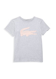 Lacoste Little Girl's & Girl's Sport Short Sleeve Crew Neck Ultra Dry Graphic T-Shirt