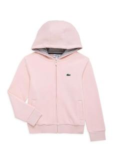 Lacoste Little Girl's & Girl's Sport Tennis Zip-Up Sweater