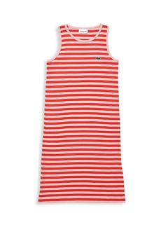 Lacoste Little Girl's and Girl's Stripe Ribbed Cotton Dress