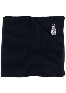 Lacoste logo patch scarf