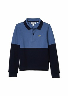 Lacoste Long Sleeve Color Block Polo (Infant/Toddler/Little Kids/Big Kids)