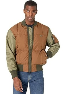 Lacoste Long Sleeve Color-Blocked Twill Bomber Jacket