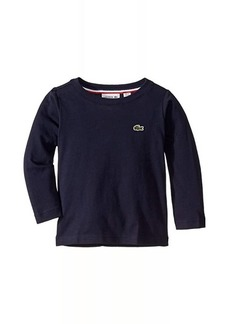 Lacoste Long Sleeve Crew Neck Tee Shirt (Toddler/Little Kids/Big Kids)