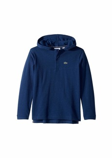 Lacoste Long Sleeve Hooded Pique Polo (Infant/Toddler/Little Kids/Big Kids)