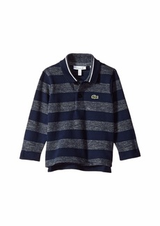 Lacoste Long Sleeve Semi Fancy Striped Heather Pique Polo (Infant/Toddler/Little Kids/Big Kids)