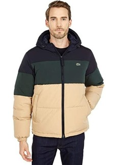 Lacoste Long Sleeve Solid Taffeta Puffer Jacket