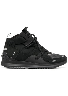 Lacoste multi-panel mid-top sneakers