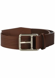 Lacoste Perforated Leather Belt w/ Roller Buckle