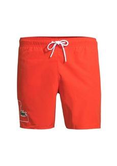 Lacoste Regular-Fit Logo Swim Trunks