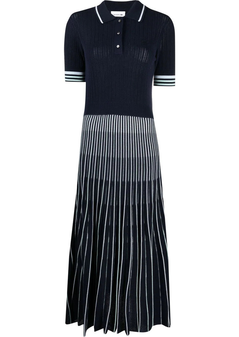 Lacoste ribbed-knit polo dress