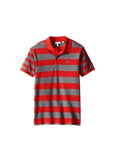 Lacoste Short Sleeve Bold Striped Polo (Infant/Toddler/Little Kids/Big Kids)