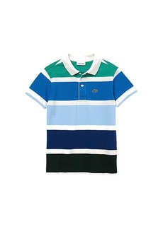 Lacoste Short Sleeve Classic Big Stripes Polo (Infant/Toddler/Little Kids/Big Kids)