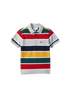 Lacoste Short Sleeve Multicolor Striped Pique Polo (Infant/Toddler/Little Kids/Big Kids)