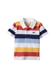 Lacoste Short Sleeve Multicolor Striped Pique Polo (Infant/Toddler/Little Kids/Big Kids)