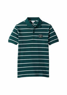 Short Sleeve Striped Heritage Lacoste Badge Pique Polo (Infant/Toddler/Little Kids/Big Kids)