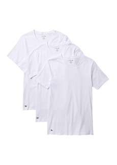 Lacoste Slim Fit V-Neck Tee - Pack of 3