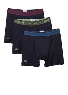 Lacoste Solid Boxer Briefs - Pack of 3
