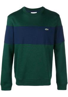 Lacoste striped crew neck sweater