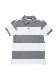 Lacoste Toddler's, Little Boy's & Boy's Bicolor Stripe Pique Polo