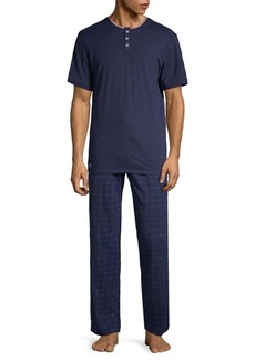 Lacoste Two-Piece Cotton Lounge Pajama Set