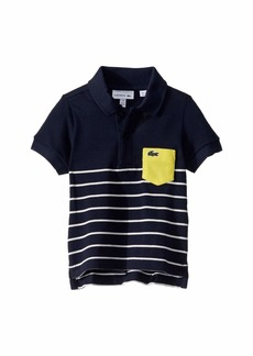 Lacoste Vintage Striped Polo w/ Contrasted Pocket (Infant/Toddler/Little Kids/Big Kids)