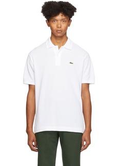 Lacoste White Classic Polo