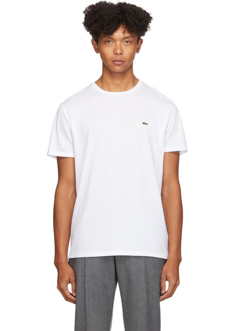 Lacoste White Pima Cotton T-Shirt
