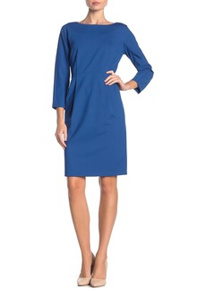 Lafayette 148 3/4 Sleeve Pleated Dress