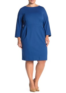 Lafayette 148 3/4 Sleeve Sheath Dress (Plus Size)