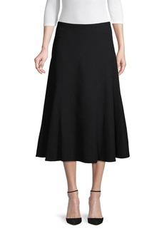 Lafayette 148 A-Line Wool Skirt