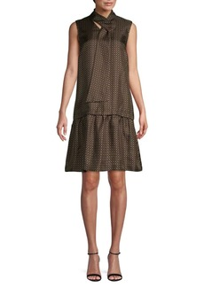Lafayette 148 Abbie Printed Silk Shift Dress