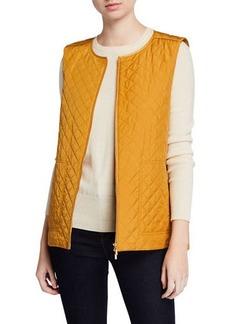 Lafayette 148 Adiva Zip-Front Drawstring-Waist Vest