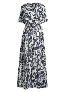 Lafayette 148 Agneta Belted Silk Dress