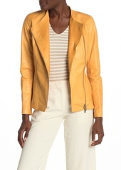 Lafayette 148 Aimes Leather Zip Front Jacket