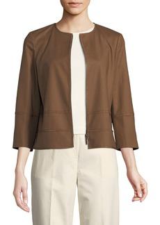 Lafayette 148 Aisha 3/4-Sleeve Poplin Jacket