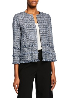 Lafayette 148 Aisha Exhibition Tweed Jacket