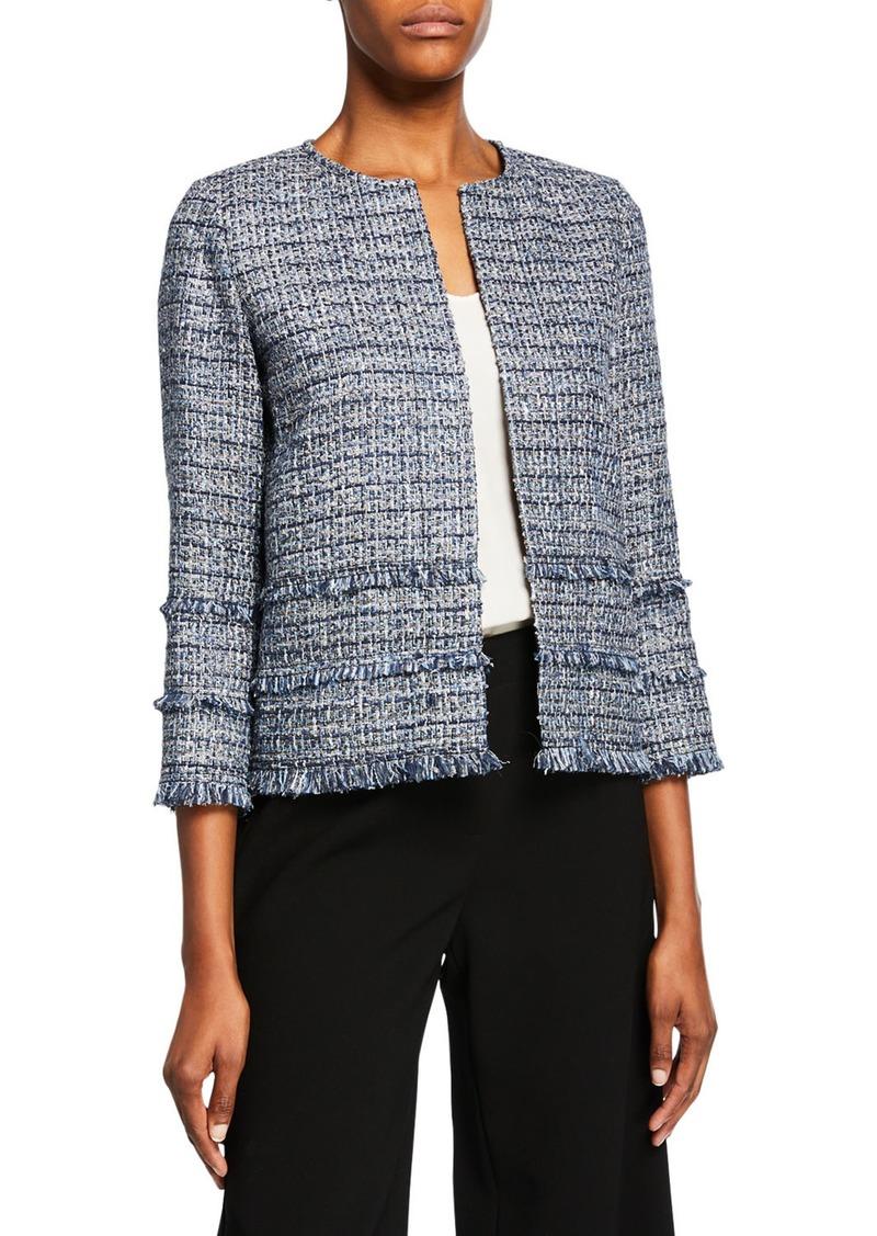 Lafayette 148 Aisha Exhibition Tweed Jacket