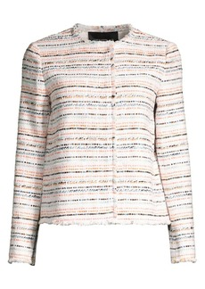 Lafayette 148 Albano Striped Tweed Jacket