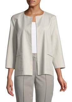 Lafayette 148 Alejandra Bracelet-Sleeve Jacket