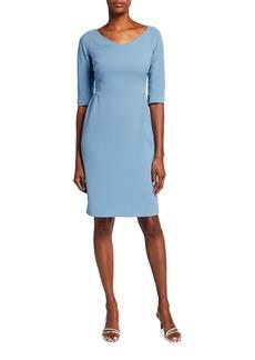 Lafayette 148 Alexia Half-Sleeve Knit Sheath Dress
