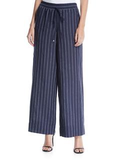 Lafayette 148 Allen Striped Linen Wide-Leg Pants