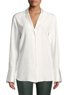 Lafayette 148 Alyssia Silk Button-Front Blouse