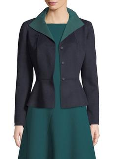 Lafayette 148 Amanda Wool-Cashmere Peplum Jacket