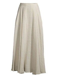 Lafayette 148 Ambria Linen-Blend A-Line Maxi Skirt