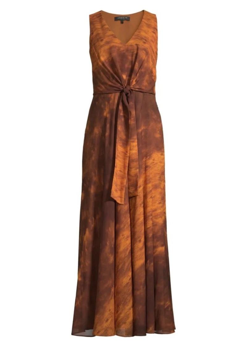 Lafayette 148 Ambrosia Sunset Sky Silk Maxi Dress