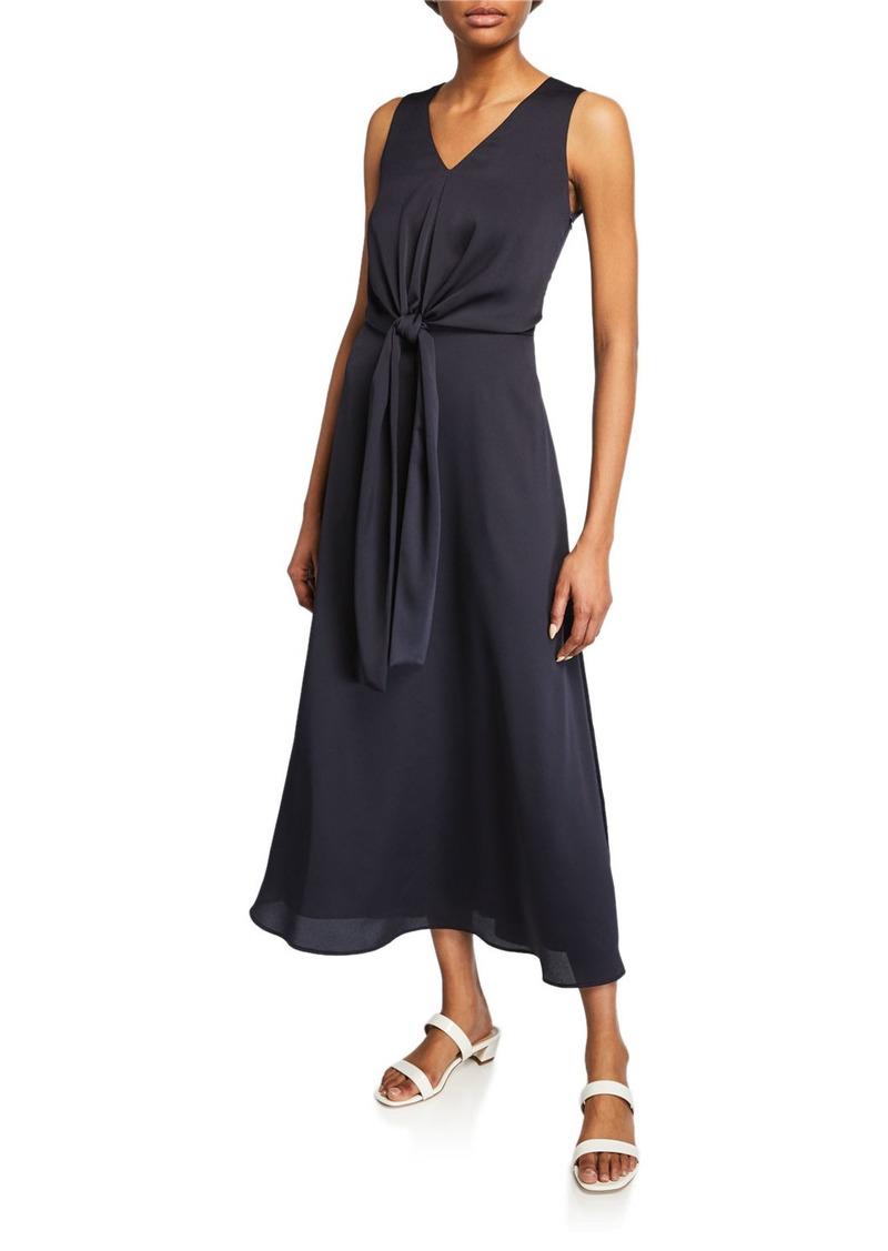 Lafayette 148 Ambrosia V-Neck Sleeveless Carlisle Cloth Dress