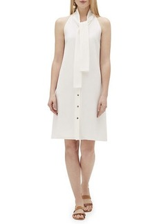 Lafayette 148 Amore Finesse Crepe Tie-Neck Dress