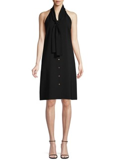 Lafayette 148 Amore Finesse Sleeveless Crepe Dress