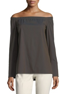 Amy Off-the-Shoulder Stretch-Cotton Blouse
